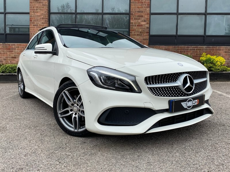 used Mercedes A180d A 180 D AMG LINE PREMIUM PLUS in leicester