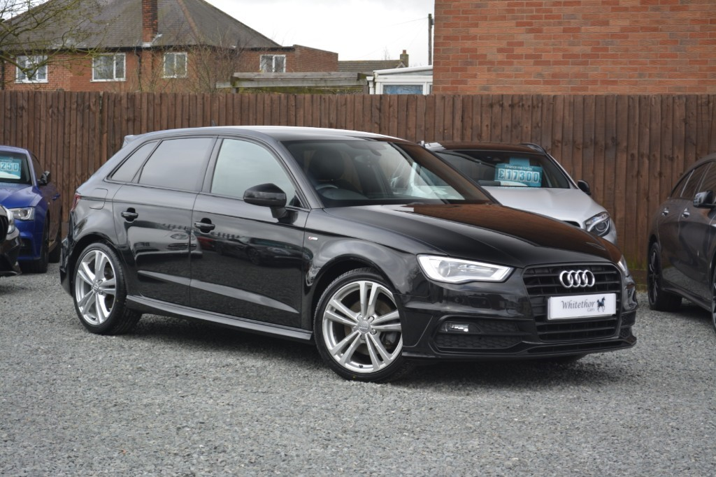 used Audi A3 SPORTBACK TDI S LINE in leicestershire