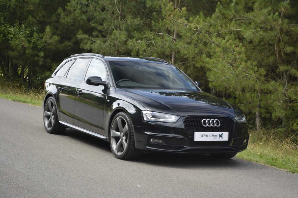 used Audi A4 AVANT TDI S LINE BLACK EDITION in leicestershire
