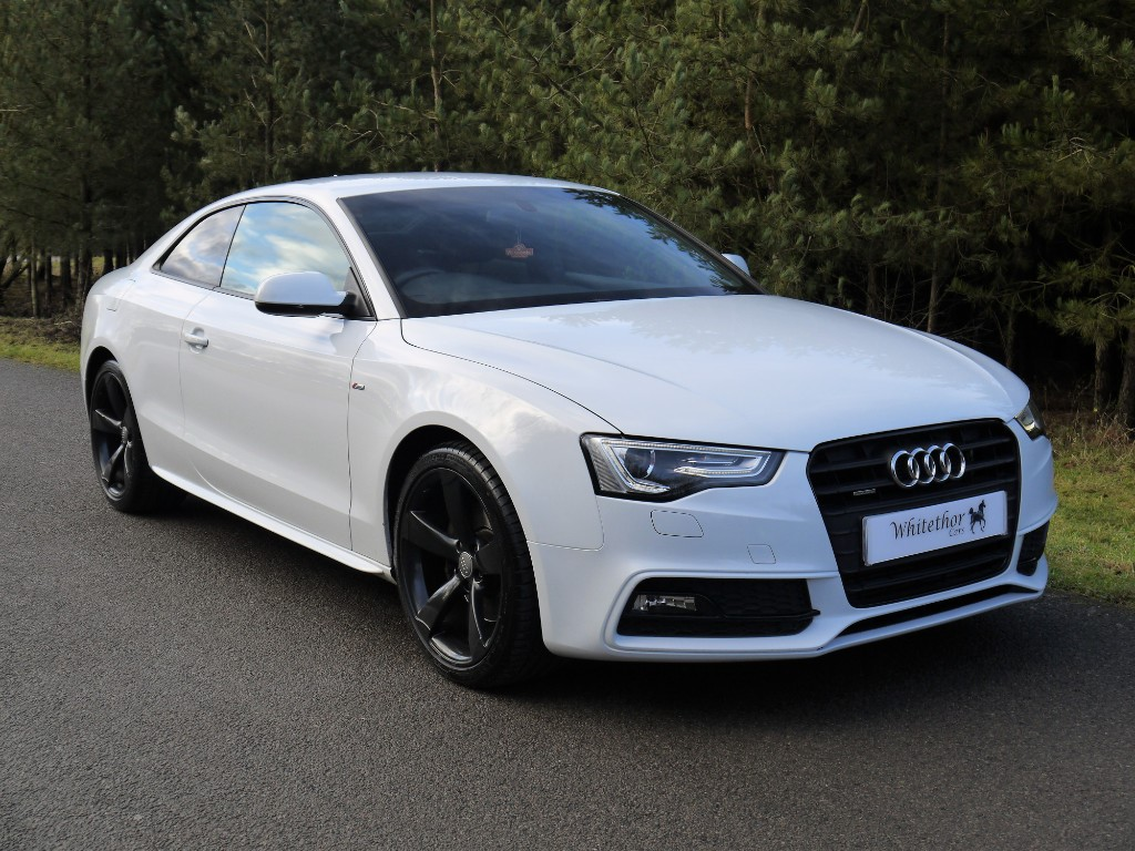 used Audi A5 TFSI QUATTRO S LINE BLACK EDITION in leicestershire