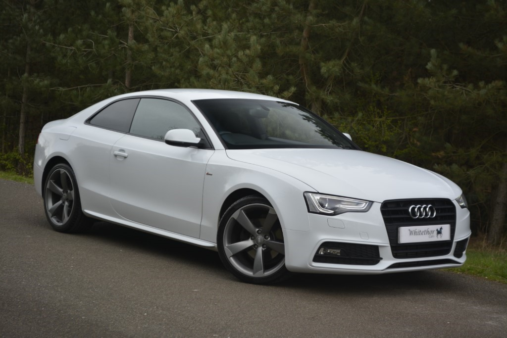 used Audi A5 TDI S LINE BLACK EDITION in leicestershire