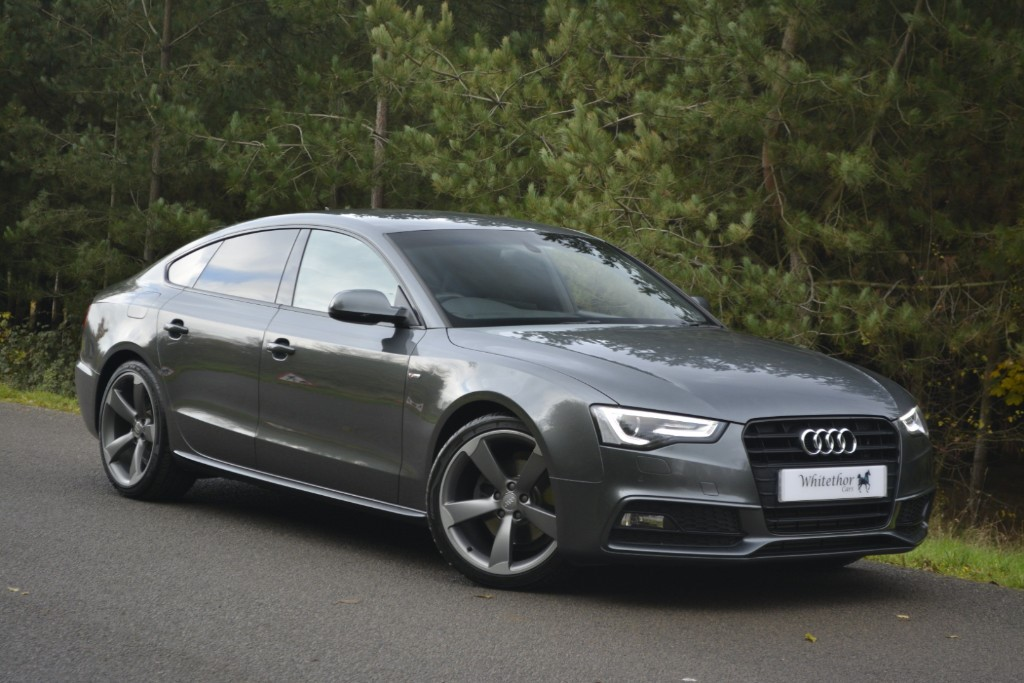 used Audi A5 SPORTBACK TDI S LINE BLACK EDITION in leicestershire
