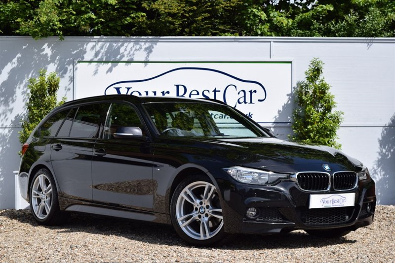 used BMW 320d M SPORT (PRO SAT NAV + REVERSE CAMERA + PRIVACY GLASS) in cranbrook-common-kent