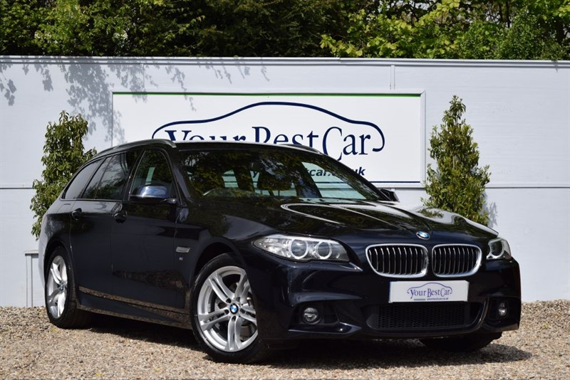 used BMW 520d M SPORT TOURING (PRO SAT NAV + REVERSE CAMERA + HEATED LEATHER) in cranbrook-common-kent