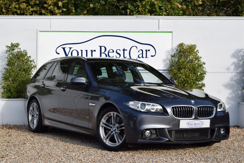 used BMW 525d 5 SERIES M SPORT TOURING (PRO SAT NAV + REVERSE CAM) in cranbrook-common-kent