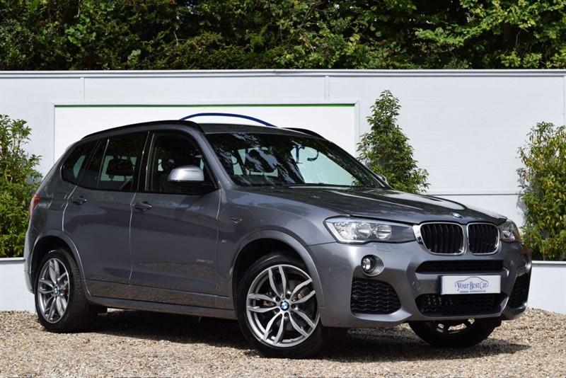 used BMW X3 XDRIVE20D M SPORT (SAT NAV + REVERSE CAMERA) in cranbrook-common-kent