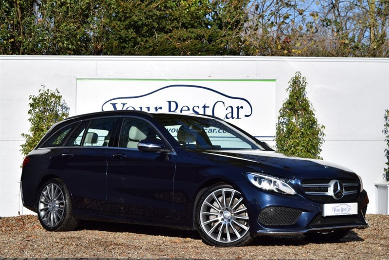 used Mercedes C300 BT HYBRID AMG LINE PREMIUM PLUS (AIRMATIC AGILITY + LEATHER SEATS) in cranbrook-common-kent