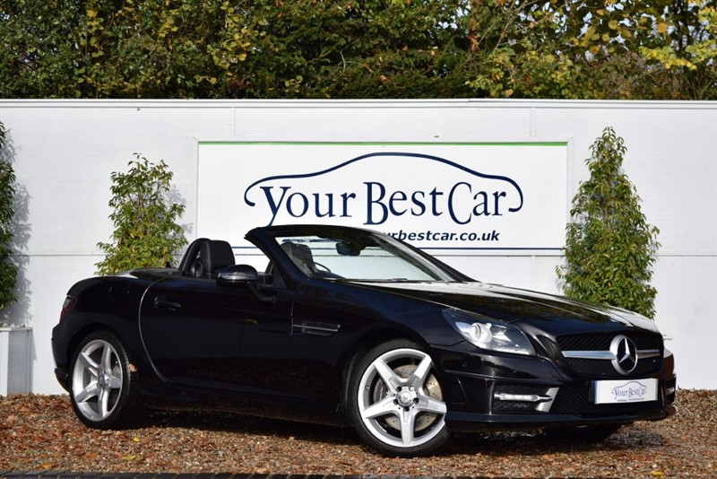 used Mercedes SLK SLK350 BLUEEFFICIENCY AMG SPORT (SAT NAV + AIRSCARF + SEAT HEATING) in cranbrook-common-kent