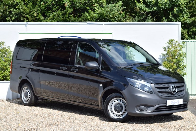 used Mercedes Vito 114 BLUETEC TOURER PRO 9 SEATER (Reverse Cam + Rear Air Con) in cranbrook-common-kent