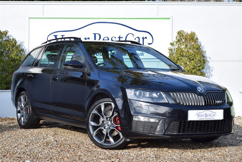 used Skoda Octavia VRS TDI (BLACKPACK+FULL LEATHER+£30 TAX) in cranbrook-common-kent