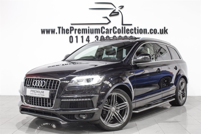 used Audi Q7 TDI QUATTRO S LINE PLUS SAT NAV PRIVACY 7 SEATER