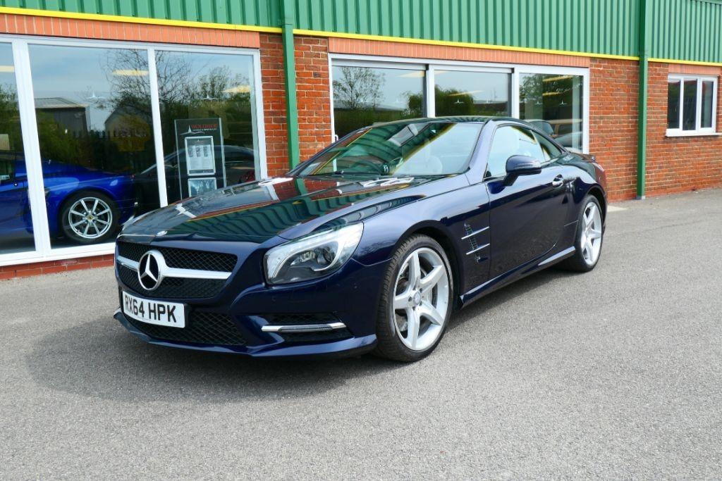 Used Cavansite Blue Metallic Mercedes Sl For Sale