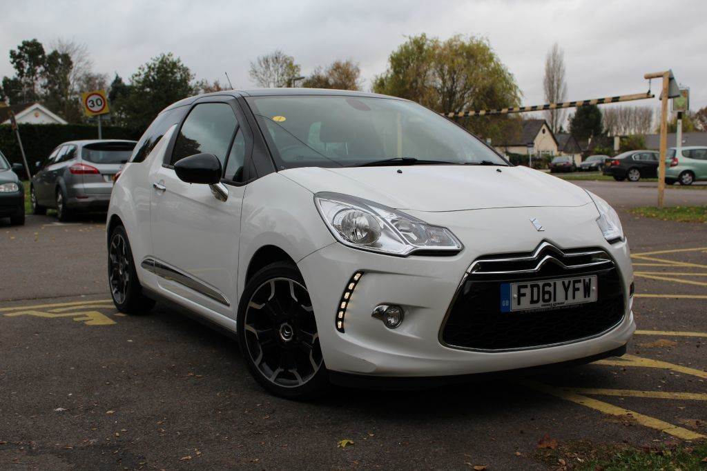 used white citroen ds3 for sale virginia water surrey. Black Bedroom Furniture Sets. Home Design Ideas