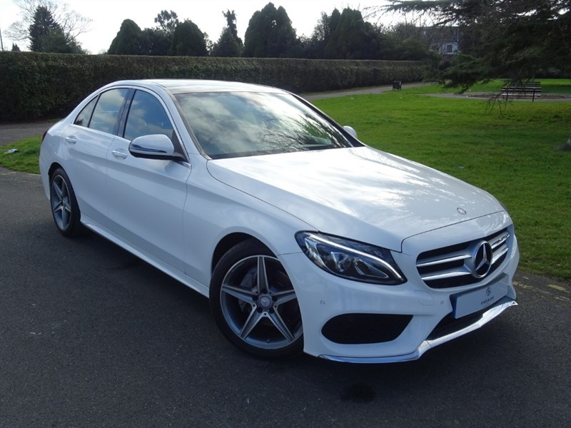 used Mercedes C220 D AMG LINE PREMIUM PLUS in in-essex