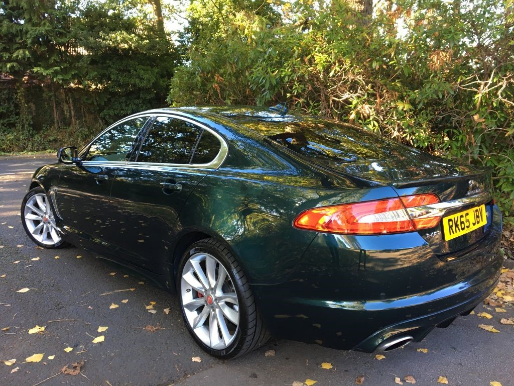 used british racing green metallic with ivory hide jaguar xf for