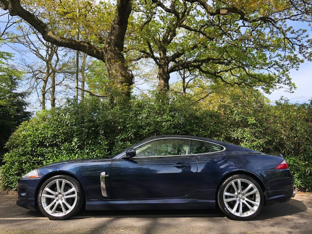 Used Indigo Blue Metallic With Ivory Hide Jaguar XK for Sale