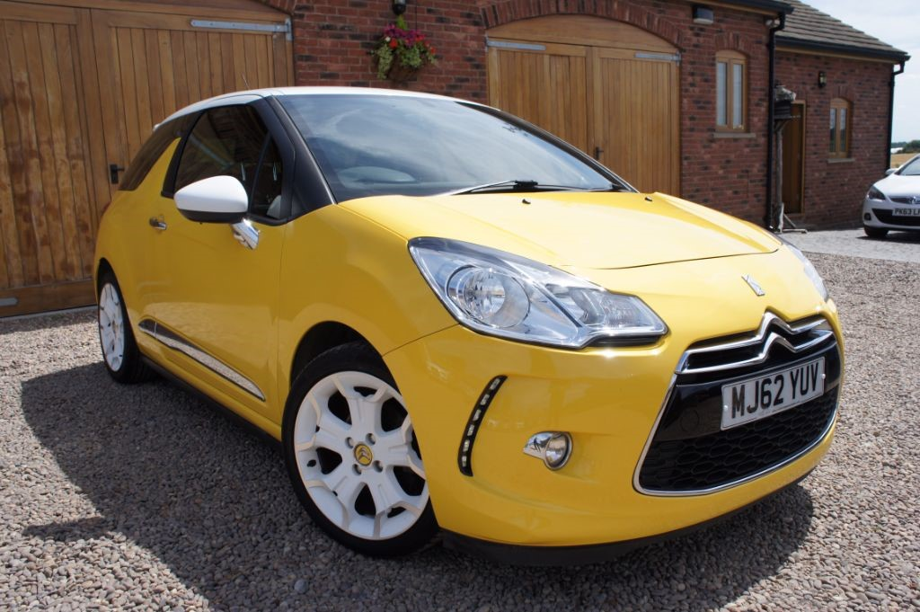 used sport yellow citroen ds3 for sale west yorkshire