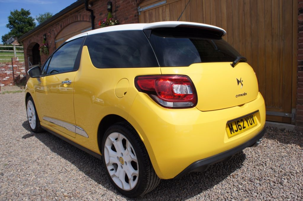 used sport yellow citroen ds3 for sale west yorkshire. Black Bedroom Furniture Sets. Home Design Ideas