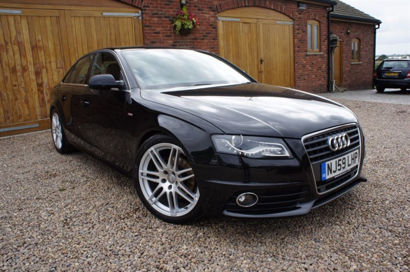 used Audi A4 TDI S LINE, HEATED LEATHER, FULL AUDIO SERVICE HISTORY in in-west-yorkshire