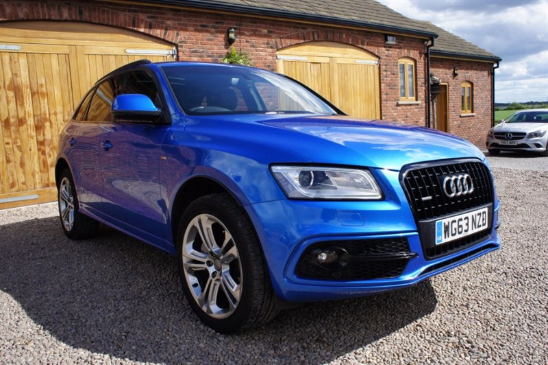 used Audi Q5 TDI QUATTRO S LINE PLUS, SAT NAV, HEATED F+R SEATS, SUNROOF, REVERSE CAMERA in in-west-yorkshire