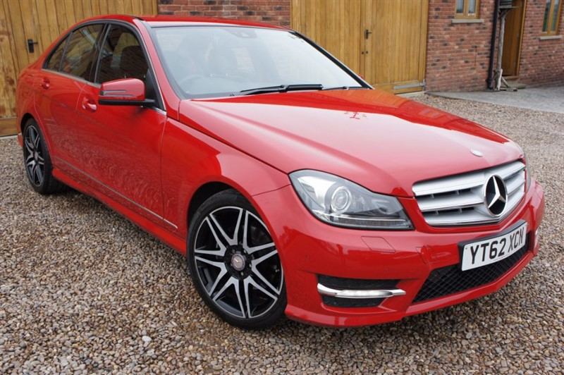 used Mercedes C220 CDI BLUEEFFICIENCY AMG SPORT PLUS, FULL MERCEDES HISTORY, SAT NAV, STUNNING in in-west-yorkshire