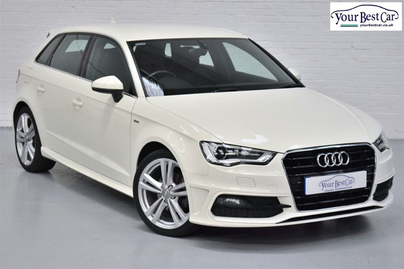 used Audi A3 TDI S LINE (ALMAFI WHITE+SAT NAV+ONE OWNER) in cranbrook-common-kent