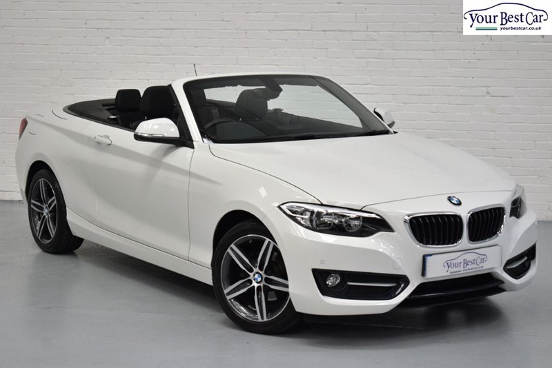 used BMW 218i SPORT (SAT NAV+EXTENDED STORAGE+INT LIGHT PACK+LIKE NEW) in cranbrook-common-kent