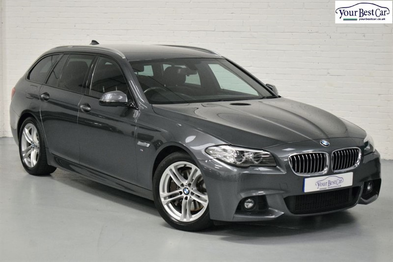 used BMW 525d M SPORT TOURING (PRO NAV+PRIVACY GLASS+ENHANCED BLUETOOTH+REV CAMERA) in cranbrook-common-kent