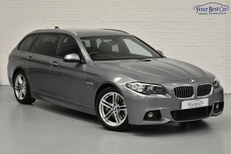 used BMW 525d M SPORT TOURING (PRO NAV + REV CAMERA + PRIVACY) in cranbrook-common-kent