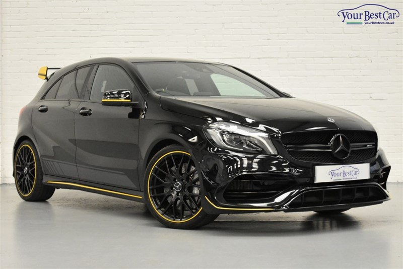 used Mercedes A45 AMG AMG A 45 4MATIC YELLOW NIGHT EDITION in cranbrook-common-kent