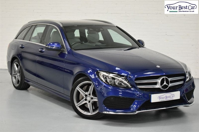 used Mercedes C250 D AMG LINE PREMIUM (PAN ROOF+REAL LEATHER SEATS+1 OWNER) in cranbrook-common-kent