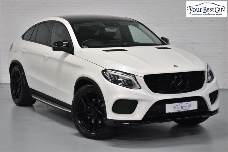used Mercedes GLE Class GLE 350 D 4MATIC AMG LINE PREMIUM (NIGHT PACKAGE+DIAMOND WHITE) in cranbrook-common-kent