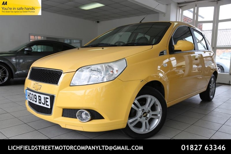 used Chevrolet Aveo LT 5dr in tamworth-staffordshire