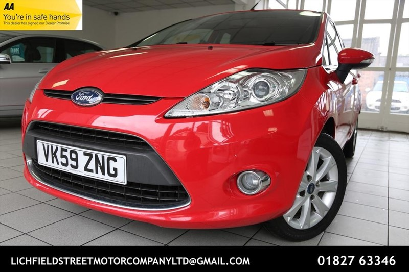 used Ford Fiesta Zetec 5dr in tamworth-staffordshire