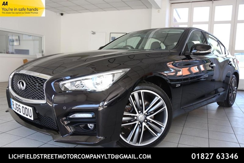 used Infiniti Q50 2.2 TD Sport (s/s) 4dr in tamworth-staffordshire