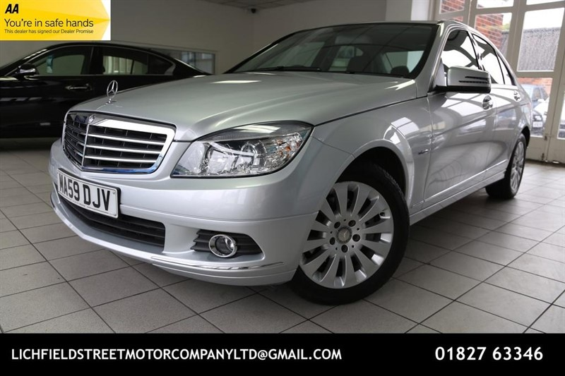 used Mercedes C180 C Class BlueEFFICIENCY Kompressor Elegance 4dr in tamworth-staffordshire