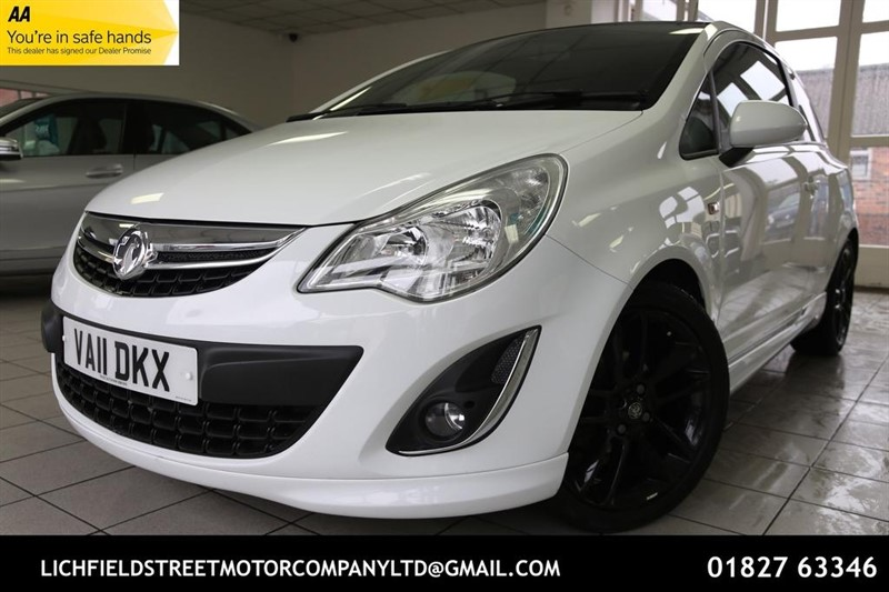 used Vauxhall Corsa 1.2 i 16v Limited Edition 3dr (a/c) in tamworth-staffordshire