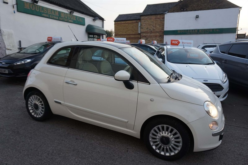 used Fiat 500 Lounge (s/s) 3dr in chelmsford-essex