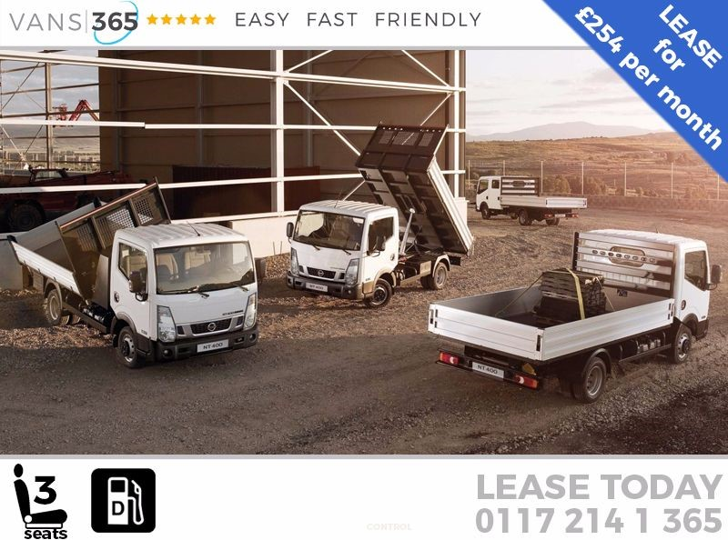 used Nissan Cabstar *LEASE DEAL* CABSTAR NT400 ALLOY BODIED S/C TIPPER 3.5T 130BHP 3.0L ENGINE  in bristol
