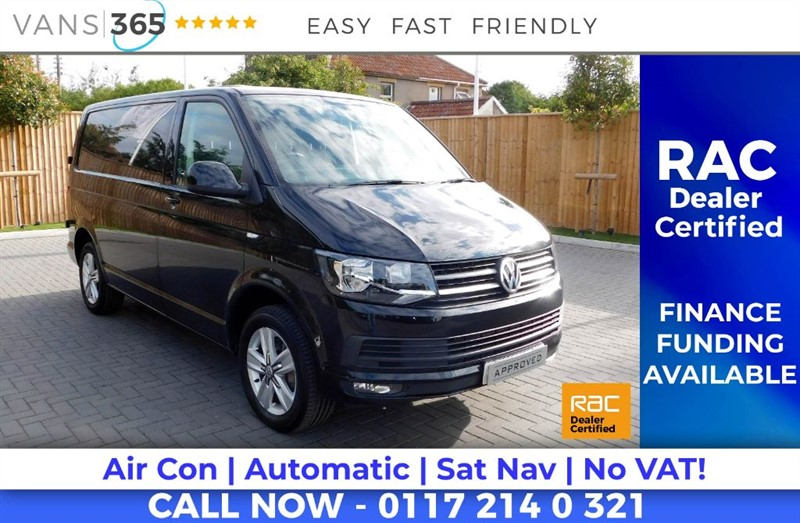 used VW Transporter *NO VAT* FACTORY 201BHP HIGHLINE AIR CON SAT NAV AUTO DSG HEATED SCREEN in bristol