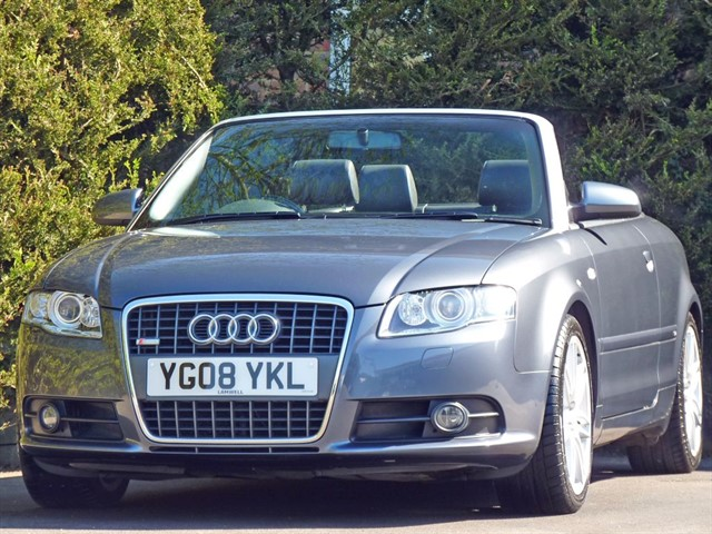 used Audi A4 2.0 T FSI S-LINE CONVERTIBLE in dorset