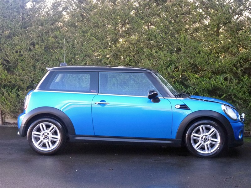 Used Electric Blue Black Roof Mini Cooperfor Sale Dorset