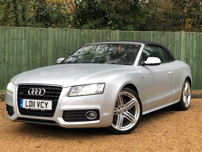 used Audi A5 Cabriolet TDI S Line Tronic Quattro 2dr in in-dorset
