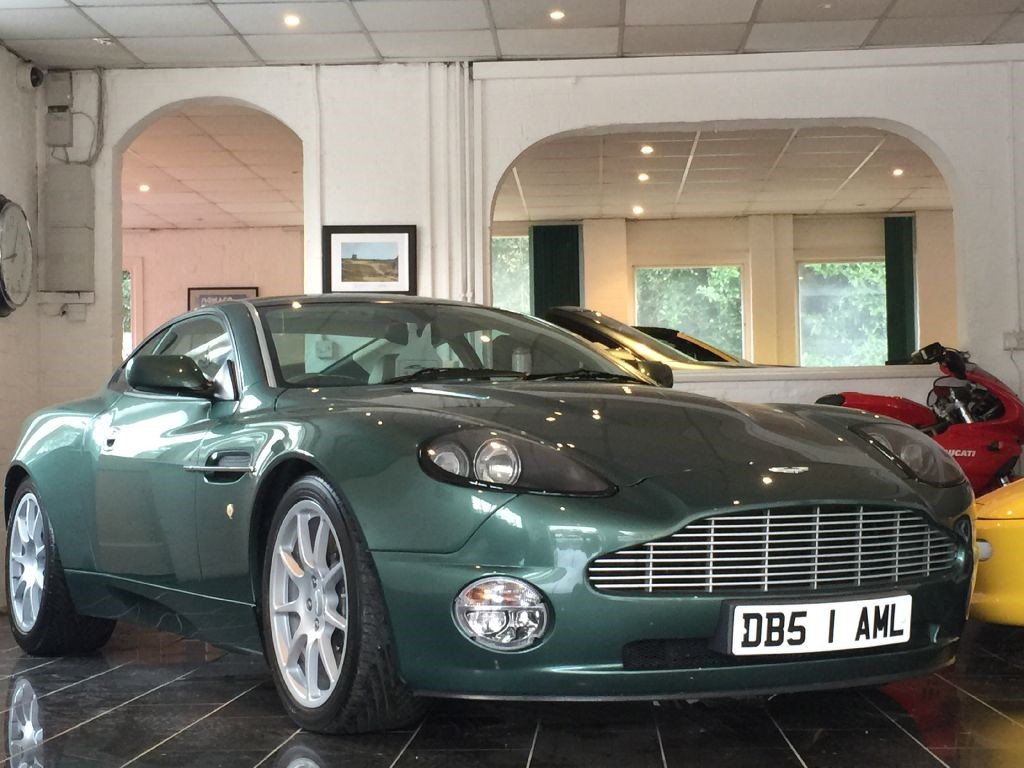 used aston racing green aston martin vanquish for sale | west sussex