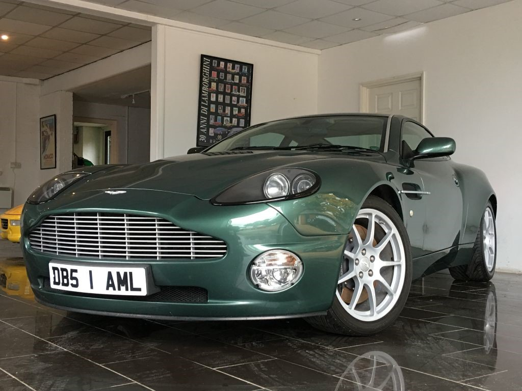 used aston racing green aston martin vanquish for sale west sussex. Black Bedroom Furniture Sets. Home Design Ideas