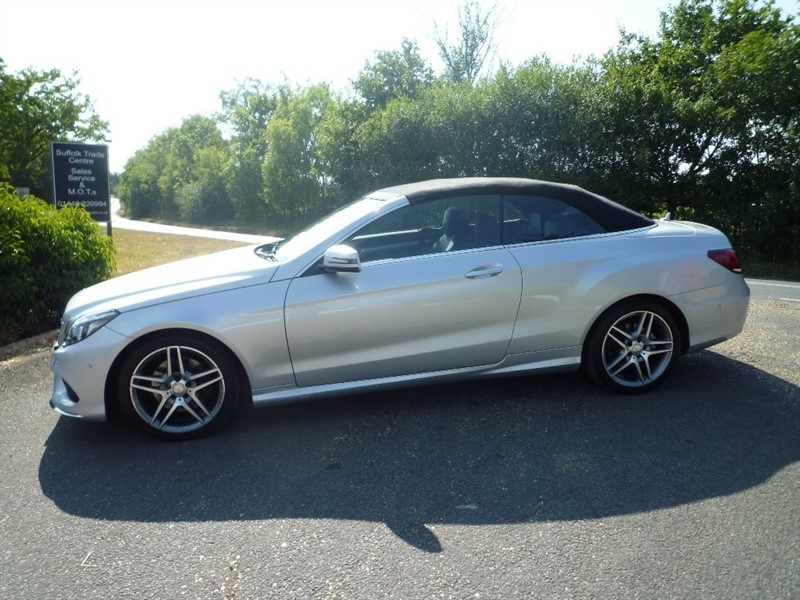 used Mercedes E350 E Class CDI BlueTEC AMG Line Cabriolet 9G-Tronic Plus 2dr in suffolk