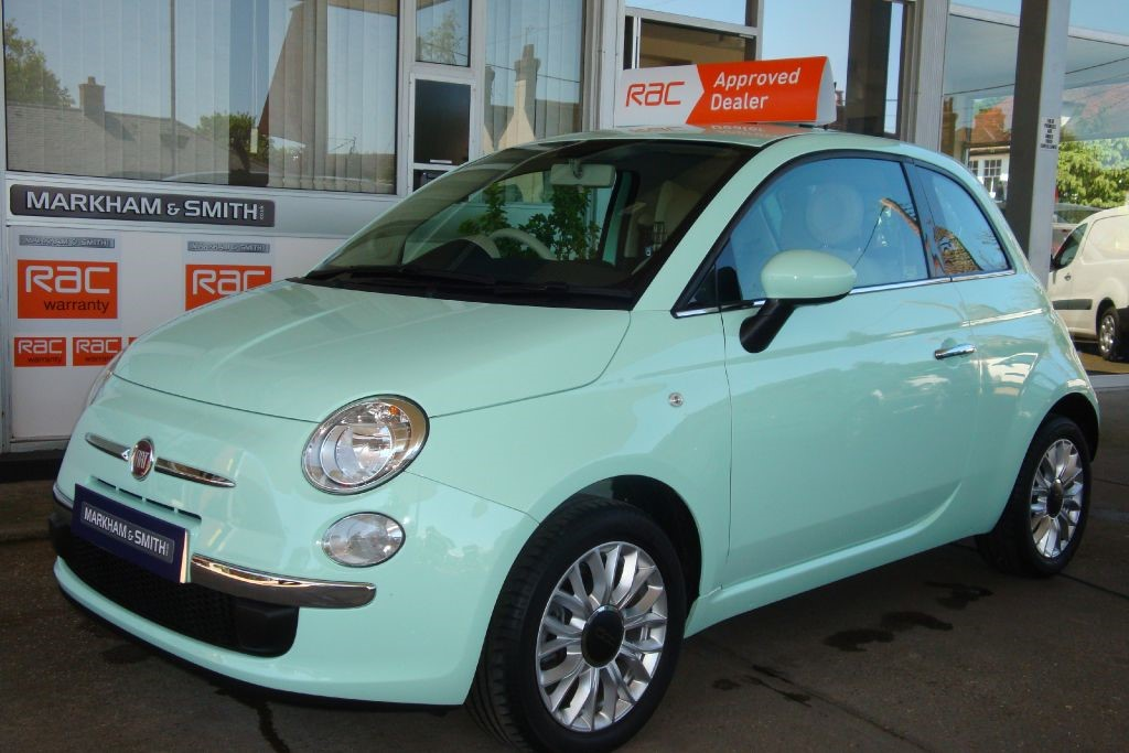 used smooth mint green fiat 500 for sale essex. Black Bedroom Furniture Sets. Home Design Ideas