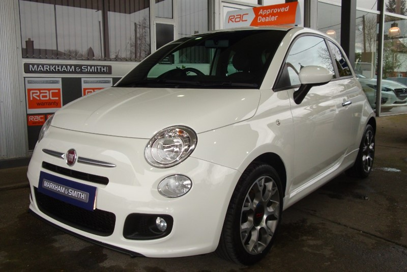 used Fiat 500 S One Lady Owner + Full Glyn Hopkins Fiat Main Dealer Service History 5 Stamps in witham-essex