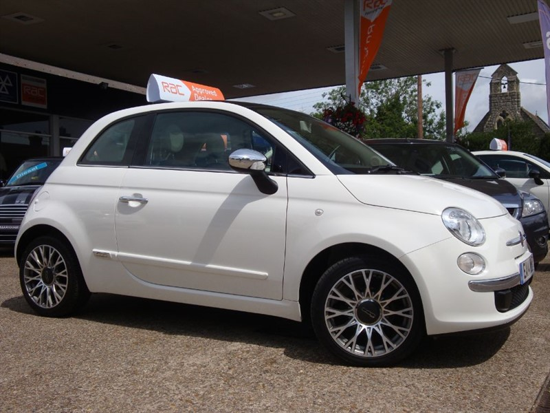 used Fiat 500 CULT ONE MISS.... FROM NEW  17,157 FROM NEW Black & White leather upholstry in witham-essex