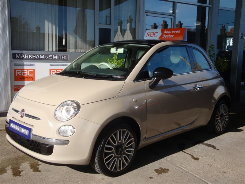 used Fiat 500 CULT Just One Lady Owner From New ,11,855 Best Colour Combo Beige Buff  in witham-essex
